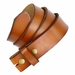 "BS121 Genuine Leather Belt Strap 1-1/2"" Wide - Tan2"