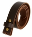 "BS1300 Brown Belt Strap Buffalo Full Grain Matte Finish Leather 1-1/2"" Wide1"