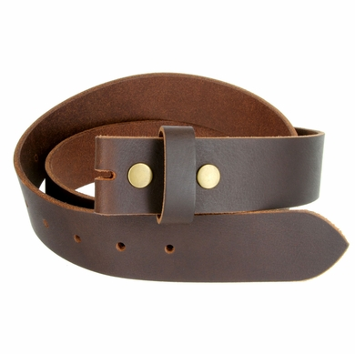 "BS1300 Brown Belt Strap Buffalo Full Grain Matte Finish Leather 1-1/2"" Wide"