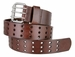"BS200 Three Hole Genuine Leather Casual Jean Belt - Brown 1-3/4"" wide1"
