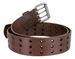 "BS200 Three Hole Genuine Leather Casual Jean Belt - Brown 1-3/4"" wide2"