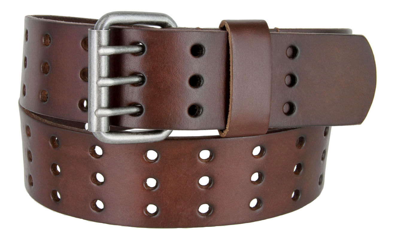Leather Casual Belt 3 Row Holes