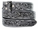 "BS220 Western Embossed Tooled Belt Strap 1-1/2"" Wide - Gray"