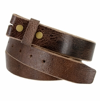 "BS304 Genuine Full Grain Vintage Leather Belt Strap 1-1/2"" Wide Brown"