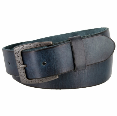 "BS40-JT5803 Men's Vintage Full Grain Cowhide Leather Casual Jeans Belt 1-1/2"" Wide"