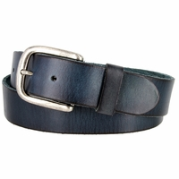 "BS40-P3588 Men's Vintage Full Grain Cowhide Leather Casual Jeans Belt 1-1/2"" Wide"