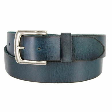 "Men's Vintage Full Grain Cowhide Leather Casual Jeans Belt 1-1/2"" Wide BS40-P3926"