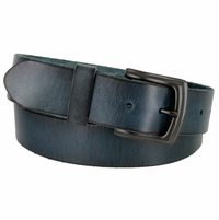 "BS40-P3926 Men's Vintage Full Grain Cowhide Leather Casual Jeans Belt 1-1/2"" Wide"
