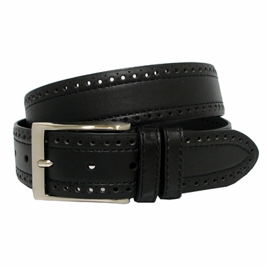 BS4000 Men's Leather Casual Jean Belt Black