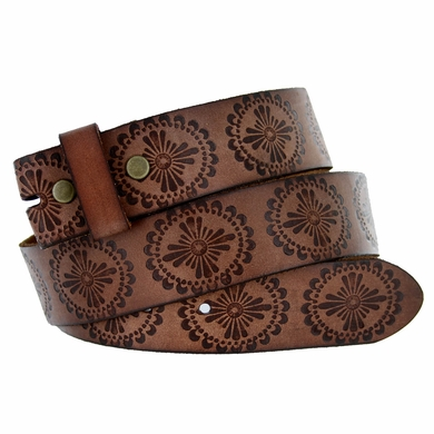 "BS70 Full Grain Leather Belt Strap 1 1/2"" Wide - Brown"