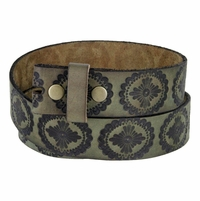 "BS70 Genuine Full Grain Leather Belt Strap 1-1/2"" Wide - Earth Green"