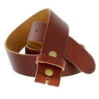 "Made in USA Belt BS80 Vintage Soft One Piece Full Leather Belt Strap 1-1/2"" Wide-Tan"