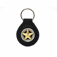BS9951 Gold Star Key Ring