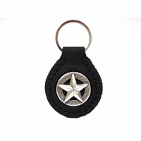 BS9951 Silver Star Key Ring