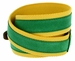 C044 Men's Italian Suede Fabric Leather Casual Belt Green/Yellow3