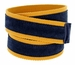 C044 Men's Italian Suede Fabric Leather Casual Belt Navy/Yellow3