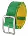 C075/40 Suede With Canvas Backing Center Buckle Belt Made In Italy - (Green/Yellow)1