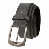 "Cable Genuine Leather Gun Metal Buckle Gray Golf Belt 1 1/2"" Wide"