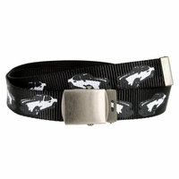 Canvas Military Web Punk Belt 1. 25 inch wide - Black