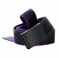 Canvas Military Web Style Belt Black Metal Buckle - Purple/Black