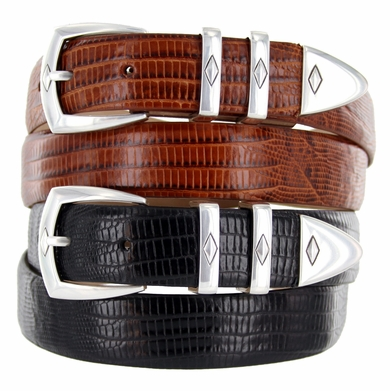 "The Canyon Men's Italian Calfskin Leather Designer Dress Golf Belt 1-1/8""(30mm) Wide"