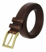 "Carter Men's Genuine Leather Dress Belt 1-1/8"" Wide - Brown3"