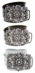 Celtic Flower Belt Buckle Casual Jean Leather Belt