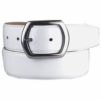 "Charisse Italian Designer Dress Leather Belt 1-1/2"" wide"