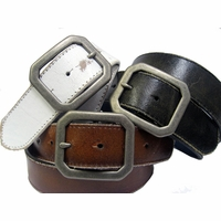Corona Vintage Belt with Solid Brass Buckle