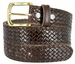 "Crossweave Braided Woven Full Grain Leather Casual Belt 1-1/2"" wide - Brown1"