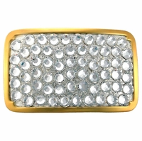 "Crystal Swarovski Rhinestone Belt Buckle Fits 1 1/2"" Wide Belts"