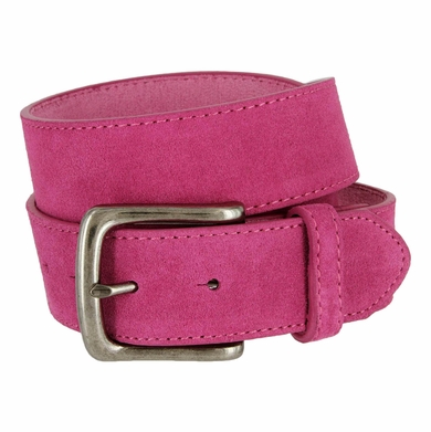 "CX160 Suede Leather Casual Jean Belts 1-1/2"" - Hot Pink"