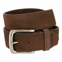 "CX160 Suede Leather Casual Jean Belts 1-1/2"" wide - Brown"