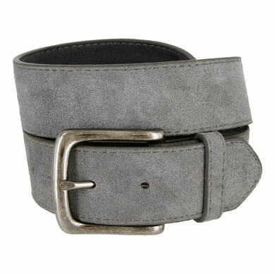 "CX160 Suede Leather Casual Jean Belts 1-1/2"" wide - Gray"