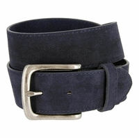 "CX160 Suede Leather Casual Jean Belts 1-1/2"" wide - Navy"