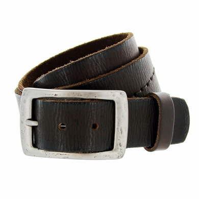 "B6552 Full Grain Hand Wave-Stitched Vintage Belt 1-1/2"" Wide"
