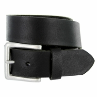 "Deal of Today BS1811 Men's Genuine Leather Casual Jean Belt 1-1/2"" Wide - Black"