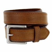 "Deal of Today Men's Genuine Leather Dress Belt 1-3/8"" Wide - Brown"