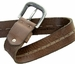 E044 Men's Italian Full Leather Casual Jean Belt Made in Italy - Marrone (Brown)2