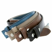 "E051 One Piece 100% Full Genuine Leather Belt Strap 1-1/2"" (38mm) Wide"