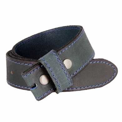 """E051 One Piece 100% Full Genuine Leather Belt Strap 1-1/2"""" (38mm) - Moss Green"""
