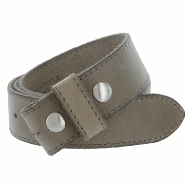 """E051 One Piece 100% Full Genuine Leather Belt Strap 1-1/2"""" (38mm) Made In Italy - Taupe"""