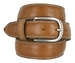 "E062/35 Men's Italian Leather Casual Dress Belt 1-3/8"" Wide Made in Italy - Cognac2"