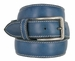 "E063/35 Men's Italian Leather Casual Dress Belt 1-3/8"" Wide Made in Italy - Ocean3"