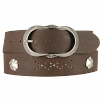 2521/38 1.5 Inch Wide Belt Made In Italy (Dark Brown)