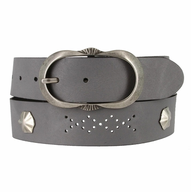 2521/38 1.5 Inch Wide Belt Made In Italy (Grey)