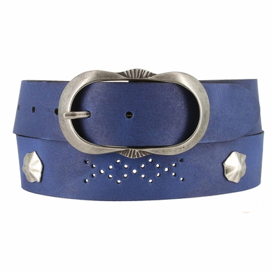 2521/38 1.5 Inch Wide Belt Made In Italy (Royal Blue)