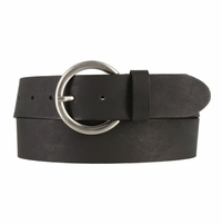 2524/38 Made In Italy Belt 1.5 Inch Wide (Black)
