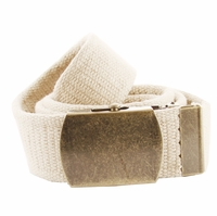 Fabric Web Belt 1. 5 inch wide - Beige
