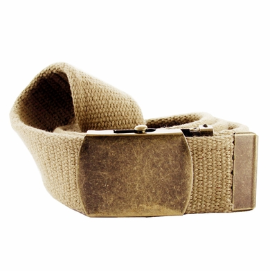 Fabric Web Belt 1. 5 inch wide - Khaki
